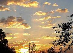 Lever de soleil dans le val de saone