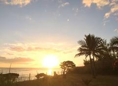 Mer Saint-Leu 97436 Tombé de soleil