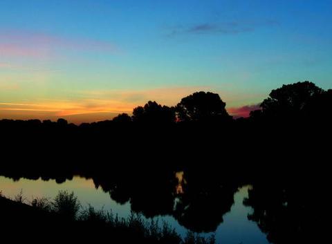 L'aurore sur la Loire