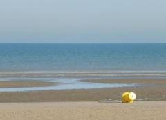 La mer du Nord le  8 septembre dans la matinée.
