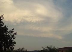 Nuage d'orage aux Arcs