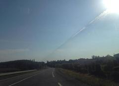 Rayure dans le ciel