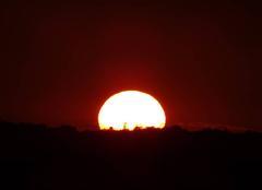 Joli coucher du soleil ce soir.
