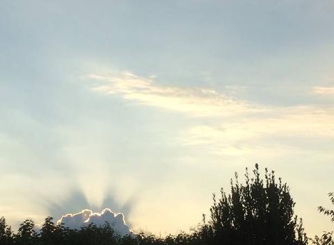 Soleil derrière les nuages