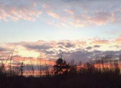 Coucher de soleil au-dessus de la Corbionne