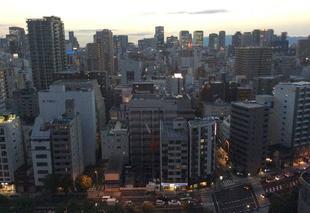 Ciel Osaka Coucher de soleil
