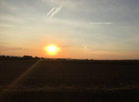 Lever de soleil sur La D�fense