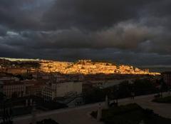 Ciel Lisbonne Couche de soleil
