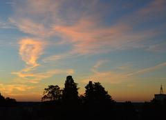 Lever du jour et ciel voil� :)