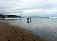 La plage de l'Uhabia - Le paradis des surfeurs