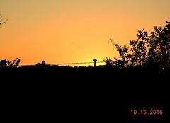 Coucher de soleil sur Saint-Julia du gras capou.