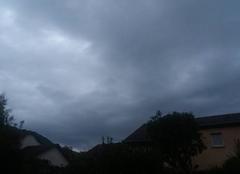 Temp tres couvert on attend la pluie