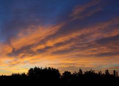 Ciel de feu ce matin au-dessus d'Uz�s