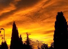 Ce matin...Merveilleux ciel d'équinoxe...