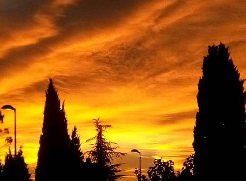 Ce matin...Merveilleux ciel d'�quinoxe...