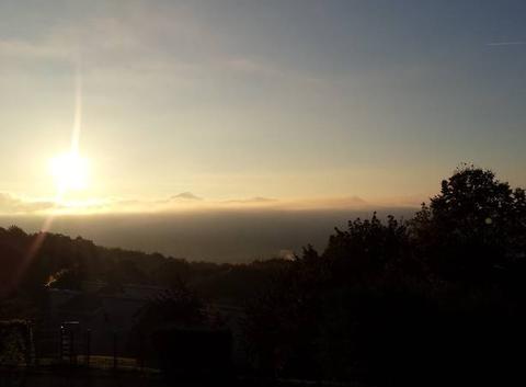 Lyon la t�te sous les nuages