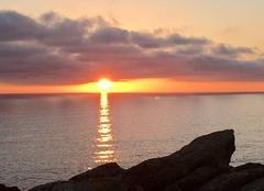 Ciel Plouhinec 29780 Coucher de soleil en Baie d'Audierne