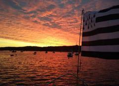 Soleil levant à l'embouchure de l'Elorn