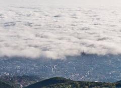 Mer de nuage sur Clermont-Ferrand