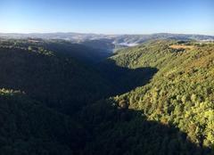 Survol en Montgolfiere gorges de la Truyère Cantal