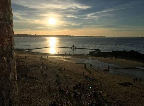 Bains de mer à 17h St Malo