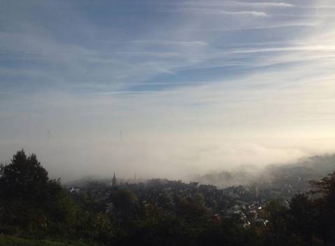 Honfleur dans le brouillard