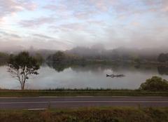 Le jour se lève un jour d'été dans le pays basque