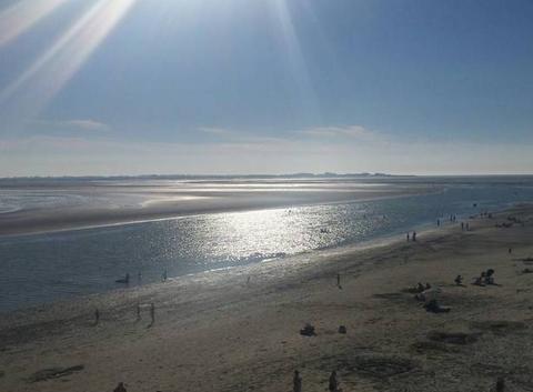 Rayons du soleil en Baie de Somme