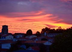 Levé de soleil quartier St Pierre à Royan