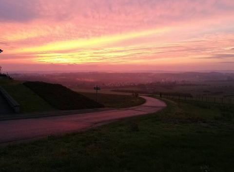 Beau coucher de soleil vue du village de Brettnach