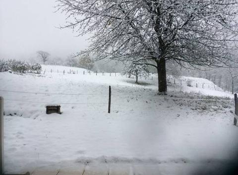 Neige sur la combe de Savoie
