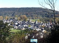 Arudy vue de la colline St Michel