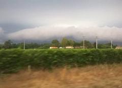 Ciel d'orage de mon village