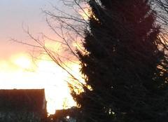 L'horizon  semble en feu:magnifique coucher de soleil