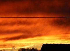 Couché de soleil sur abscon 59215 ce 21 novembre 2016