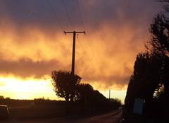 Ciel d'automne flamboyant