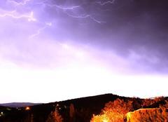 Orage Malras 11300 Un orage de quatre heures sur le village de Malras