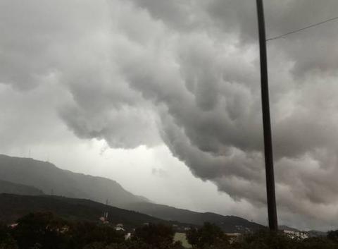 En marge du front orageux