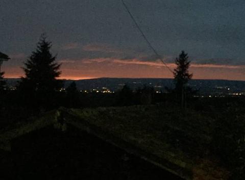 Ciel d'hiver en soirée