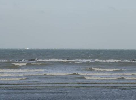 La mer du Nord le  24 Novembre dans la matinée : très venteux !!