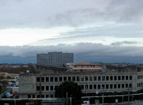 Front de nuage au sud