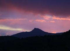 Un coucher de soleil sur le garlaban