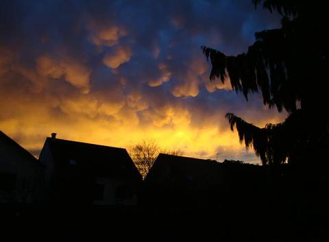 Bondoufle 2016 coucher de soleil