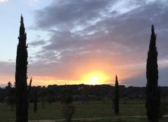 Coucher de soleil sur Montpellier