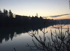 Coucher du soleil sur l'Isère