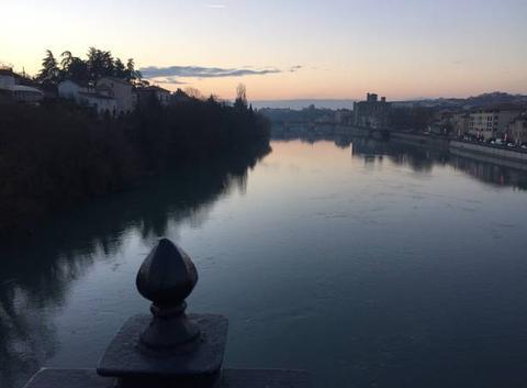 Crépuscule sur l'Isère