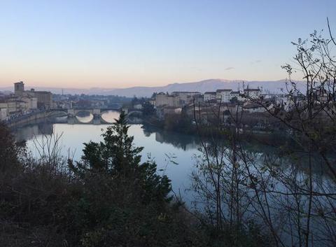 Lueurs de l'aube sur l'Isère