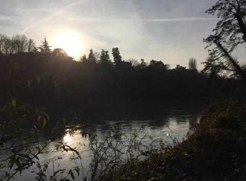 Soleil matinal sur l'Isère