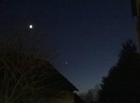 L'étoile du berger Vénus dans le ciel alsacien.