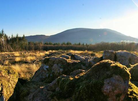 Contre-jour sur le mont Beuvray